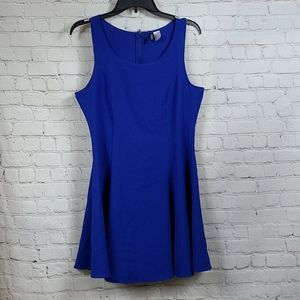 H&M Divided Sleeveless DRESS Royal Blue Size 12
